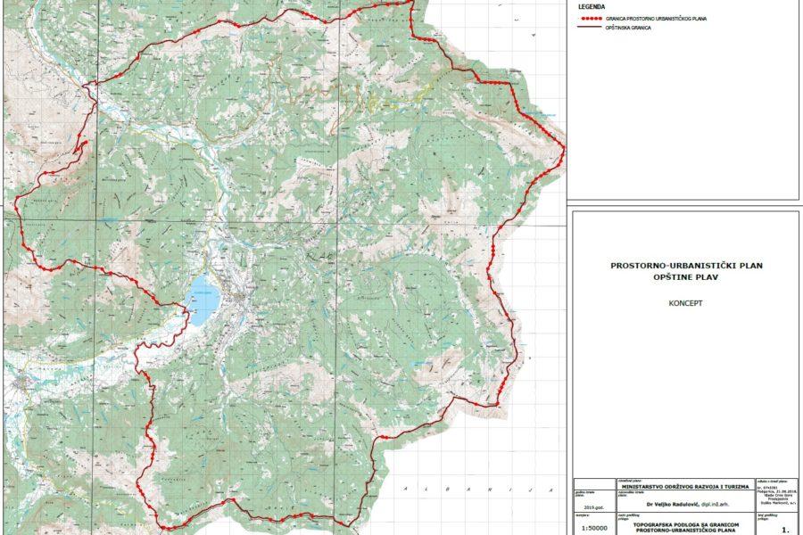 Učešće javnosti na KonceptProstornourbanističkogplanaOpštinePlav