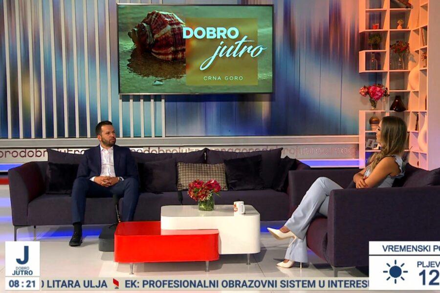 Canović u Jutarnjem programu: Očekujemo dobru turističku sezonu